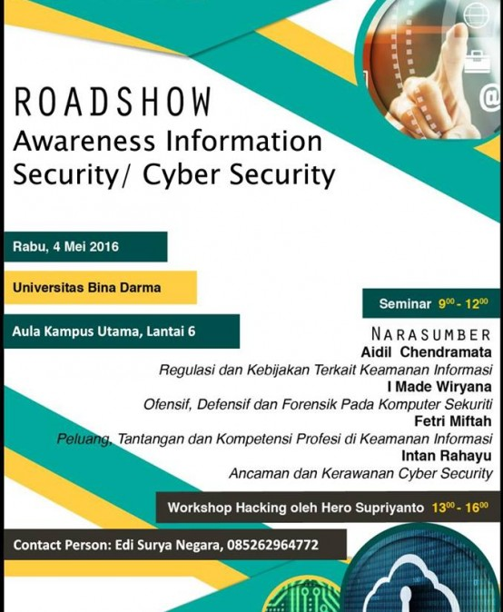 """Roadshow """"Awareness Information Security/Cyber Security"""""""