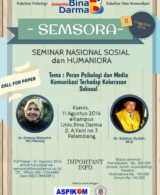 Seminar Nasional dan Humaniora (SEMSORA)