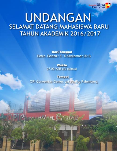 Undangan Selamat Datang Mahasiswa Baru TA 2016-2017